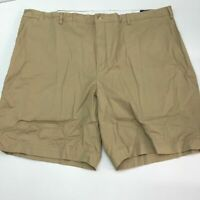 Polo Ralph Lauren Chino Shorts Mens 48B Khaki Tan Classic Fit Stretch Zip Fly