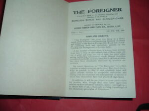 BIRDS FOREIGN AND BUDGERIGARS , THE FOREIGNER, 1934, VOL 1,  HARDBACK BINDING