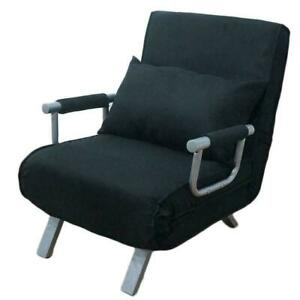 New Folding Sleeper Flip Chair Convertible Sofa Bed Lounge Couch Pillow 5 Positi