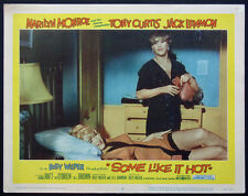 SOME LIKE IT HOT MARILYN MONROE IN BED JACK LEMMON 1959 LOBBY CARD #6