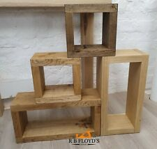 Solid Oak Cubes Box - Modular Display Storage - Wall Hung or Freestanding