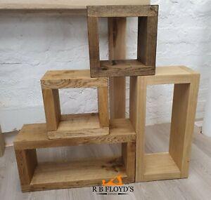 Modular Solid Oak Box Shelf  - Display Shelves - Freestanding or Wall Hung
