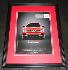 2011 Nissan Juke Framed 11x14 ORIGINAL Vintage Advertisement