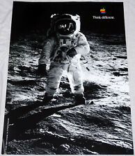 "BUZZ ALDRIN Think different Apple poster approx 28""/20"" rolled shipping"