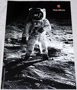 """APPLE Think different BUZZ ALDRIN poster approx. 28""""/20"""" mint rolled shipping"""