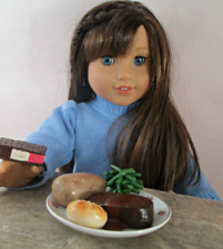 AG Doll Miniature Meatloaf, Whole Potato and Green Bean Dinner with Dessert