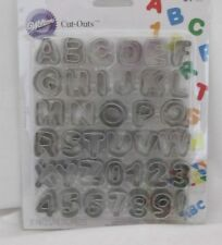 Wilton Industries Inc. 37 Pc Fondant Alphabet & Numbers Cut Outs  New
