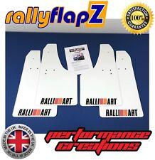 Rally Mudflaps MITSUBISHI L200 (05>) White 4mm PVC Mud Flaps Ralliart Logo B R&O