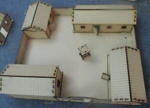 20mm Walled Farm (4 Buildings) Scenery Medieval WW2 Fantasy Laser Cut MDF 2mm