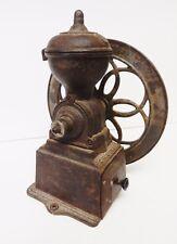 Antique Coffee Grinder Mill Original MJF Patentado Cast Iron Single Wheel Spain