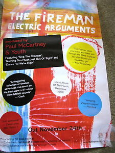 Paul McCartney - The Fireman - Hectic Argument - PROMO POSTER