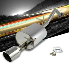 """4"""" Roll Muffler Tip Exhaust Axleback System For 10-15 Toyota Prius XW30 1.8L"""