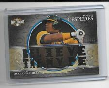 2013 Triple Threads - YEONIS CESPEDES - 14 Hole Game Used Jersey As METS #d11/27