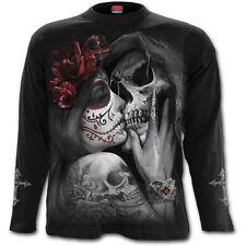 SPIRAL DIRECT mort bisou manches longues T-shirt/ TATOUAGE/ Tête de Calavera /