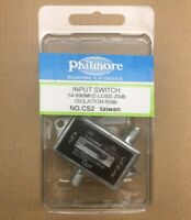 NEW Philmore Coaxial Splitter 2 Way A/B Game Antenna Cable TV CATV Slide Switch