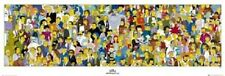(LAMINATED) SIMPSONS CAST DOOR POSTER (53x158cm) SPRINGFIELD CHARACTERS HOMER