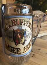 1880's Jac Rubbert's Advertising Beer Stein Glass Mug T Murphy & Co Very Rare