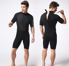 Men Scuba Snorkeling Jump Free Dive Shorty Wetsuits 3mm Neoprene Diving Suits