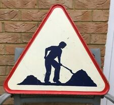Vintage French Road Works Sign Industrial Wall Décor