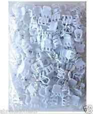 LOT DE 100 MINI PINCES BARRETTE CHEVEUX BLANC 1.5 CM EN VRAC