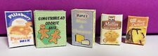 Dollhouse Miniature 1:12 Scale Baking Goods food boxes (set of 5)