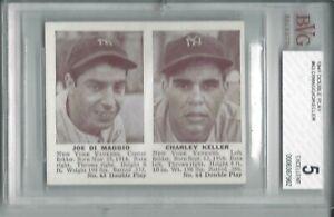 1941 Double Play baseball card #63 Joe DiMaggio Keller New York Yankees BVG 5