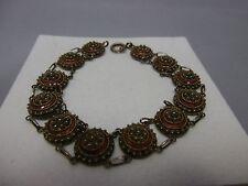 schönes emailliertes filigran Armband aus Silber 833 punziert Portugal 1886-1938