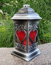 Grablaterne Grablampe Lampe Grab Grableuchte Granit Grablicht Kerze Engel Neu