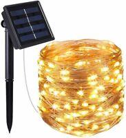 30M Solar Power LED Strip Rope Lights Fairy String Light Xmas Outdoor Light