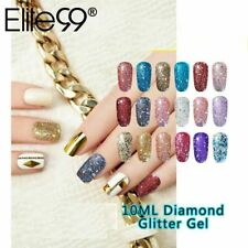 Diamond Nail Gel Glitter LED UV Gel Manicure Shiny Sequins Soak Off Elite99 10ml