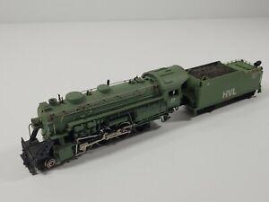 Custom? Bachmann 2-8-0 Locomotive & Tender Hockanum Valley Lines - Needs Repair
