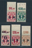 DANZIG Dienst 1922, Mi. ex 23-28 OR **, Oberrandwerte!! Inkl. Mi. 24 Y!!