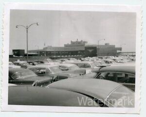 1960s B/W  polaroid photo TWA   Pittsburgh PA airport cars