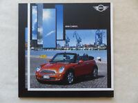 Mini Cabrio One Cooper - Prospekt Brochure 01.2004