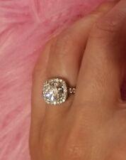 14k Halo Diamond Ring 1.39 Center Stone GIA CERTIFIED