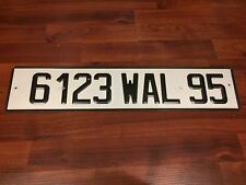 Genuine FRANCE Rare EURO LICENSE PLATE #6123WAL95 Department #95