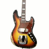 4 String Bass Guitar Sunburst Color Rosewood  Maple Fingerboard With Block Inlay