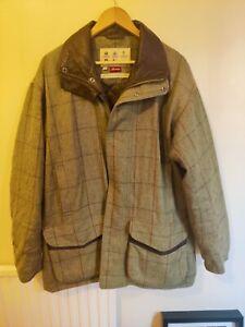 Men's BARBOUR Pure WOOL DOGTOOTH Tweed FIELD Coat Jacket Shooting - M