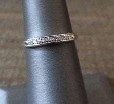 Stunning Vintage Circa 1940's Platinum & Diamond Wedding Anniversay Band Ring