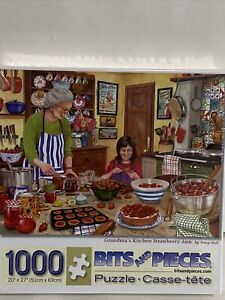 Bits And Pieces 1000 Piece Jigsaw Puzzle GRANDMA'S KITCHEN STRAWBERRY JAM Sealed