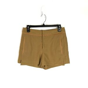 NWOT ZARA Shorts Women's Size XS Brown with Leather Trim