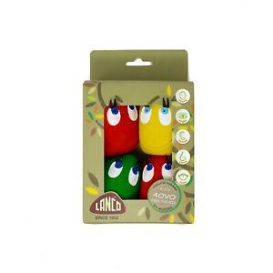 LANCO TOYS OVO THE EGG LARGE 4-SET, FETCH TOY, IDEAL FOR SMALL & MEDIUM DOGS