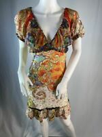 Roberto Cavalli Floral Abstract Printed Multicolored Dress