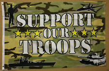 US SUPPORT OUR TROOPS FLAG 3'x5' CAMO UNITED STATES PATRIOTIC USA MILITARY