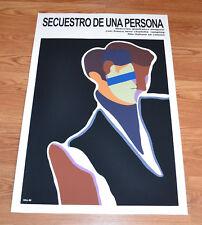 """24x36"""" Cuban movie Poster 4 film Secuestro de una persona.Kidnapping.LAST 1"""