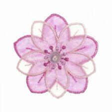 Craft Factory Sew on Fabric Motif Applique Flower - Job.lot