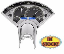 Dakota Digital 1955-56 Chevy Car VHX Gauges Silver / Blue - VHX-55C-S-B