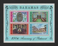 BAHAMAS 1979 250th ANNIV OF PARLIAMENT M/SHEET *FINE MLH*