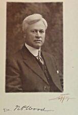 Signed EDWARD CURTIS PHOTO Dr. N.P. Wood Seattle Mug Shot Denver & Gross College