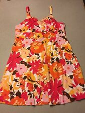Women's Studio 1940 Plus Size 24W Sleeveless Floral Sun Dress Bright EUC U9